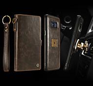 economico -telefono Custodia Per Samsung Galaxy Integrale Custodia in pelle Porta carte di credito S8 Plus A portafoglio Porta-carte di credito Resistente agli urti Tinta unica Resistente pelle sintetica