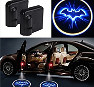 abordables -2pcs sans fil voiture porte led laser projecteur ombre lumière voiture-style voiture lampe lumière intérieure
