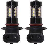 abordables -OTOLAMPARA Automatique LED Feu Antibrouillard H10 / H9 / H11 Ampoules électriques 1660 lm SMD 2835 80 W 16 Pour Universel Tous les modèles Toutes les Années 2 pièces