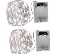 economico -5m Fili luminosi 50 LED SMD 0603 2pcs Bianco caldo Bianco Multicolore Impermeabile Feste Decorativo Batterie alimentate