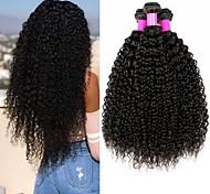 abordables -Lot de 4 Tissage de cheveux Cheveux Brésiliens Kinky Curly Extensions de cheveux Naturel humains Cheveux Naturel Rémy Paquets de 100% Remy Hair Weave 400 g Tissages de cheveux humains Extensions