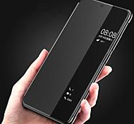 economico -telefono Custodia Per Huawei Integrale Custodia in pelle Custodia flip Huawei P20 Huawei P20 Pro Con sportello visore Con chiusura magnetica Auto sospendione / riattivazione Tinta unica Resistente