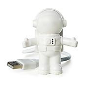 economico -ywxlight® usb led luce notturna regolabile cool new astronaut spaceman per computer pc lampada da tavolo luce bianco puro
