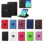 economico -telefono Custodia Per Samsung Galaxy Tab S2 8.0 Tab S2 9.7 Integrale Rotazione a 360° Con supporto Con chiusura magnetica Tinta unita Resistente pelle sintetica