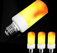 economico -4 pezzi led fiamma effetto fuoco lampadinase26 e27 e14 base 4 modalità con effetto capovolto decorazione halloween atmosfera natalizia 5w ac85-265v