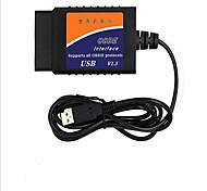 abordables -elm327 obd usb testeur de voiture de code de diagnostic de lecteur de code de diagnostic de voiture