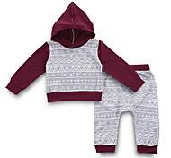 abordables -bébé Garçon Chic de Rue Quotidien Imprimé Manches Longues Normal Ensemble de Vêtements Gris / Bébé