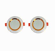 abordables -2pcs 5 W 360 lm 20 Perles LED Installation Facile Encastré LED Encastrées Blanc Chaud Blanc Froid 220-240 V Maison / Bureau Salon / Salle à Manger / CE