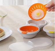 abordables -micro-ondes oeuf poacher batterie de cuisine double tasse double cave oeuf cuiseur oeuf pocher des tasses