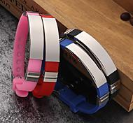 abordables -Personnalisé Silicone / Acier inoxydable / fer Bracelet / Bracelet Coloré Mariée / Fille d'honneur / Amis Cadeau / Usage quotidien -