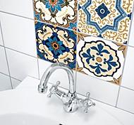 economico -adesivi murali decorativi - adesivi murali 3d astratti / forme bagno / cucina 10 pezzi 15 * 15 cm