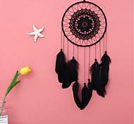economico -boho dream catcher regalo fatto a mano appeso a parete arredamento arte ornamento mestiere piuma fiore 60 * 20 cm per bambini camera da letto festival di nozze