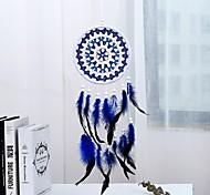economico -boho dream catcher regalo fatto a mano appeso a parete arredamento arte ornamento artigianato piuma 60 * 16 cm per bambini camera da letto festival di nozze