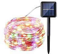 economico -10m Fili luminosi 100 LED SMD 0603 1pc Bianco caldo Bianco Multicolore Impermeabile Solare Decorativo Ad energia solare / IP65