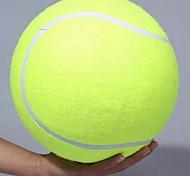 abordables -24cm chien balle de tennis géant jouet pour animaux de compagnie balle de tennis mâcher jouet signature mega jumbo enfants balle de jouet