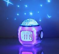 economico -sveglia a led plastica bianca batterie aaa alimentate illuminazione sveglia sveglia 10,4 cm * 10,2 cm * 8,2 cm