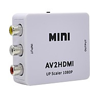 economico -mini av to hdmi 1080p adapter hd video composite rca to hdmi 720p 1080p switch converter box support ntsc pal