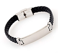 abordables -Personnalisé Cuir / Acier inoxydable / fer Bracelet / Bracelet Coloré Amis Cadeau / Usage quotidien -