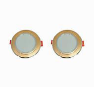 abordables -2pcs 5 W 360 lm 10 Perles LED Installation Facile Encastré LED Encastrées Blanc Chaud Blanc Froid 220-240 V Maison / Bureau Salon / Salle à Manger / CE