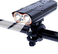 abordables -LED Eclairage de Velo Eclairage de Vélo Avant VTT Vélo tout terrain Vélo Cyclisme Imperméable Rotation 360° Modes multiples Super brillant 18650 2000 lm Rechargeable USB Cyclisme / Grand angle