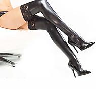 abordables -Combinaison Morphsuit Chaussettes / Bas Combinaison-pantalon Ninja Adulte Latex Costumes de Cosplay Bas Genre Halloween Femme Dentelle Halloween Carnaval Mascarade / Costume de peau