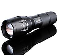 voordelige -LED-Zaklampen Waterbestendig Oplaadbaar 3000 lm LED LED emitters 5 Verlichtings Modus inklusive Batterie und Ladegerät Waterbestendig Zoombare Oplaadbaar Verstelbare focus Super Light Hoog vermogen