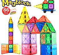 abordables -Blocs Magnétiques Carreaux magnétiques Briques de construction 86 pcs Créatif Motif géométrique Dégradé de Couleur Jouets de construction Tous Garçon Fille Jouet Cadeau / Enfant