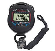 abordables -chronomètre lcd chronomètre numérique sport chronomètre professionnel chronomètre numérique de poche en cours d'exécution chronographe compteur avec sangle