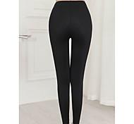 abordables -Femme Basique Legging Couleur Pleine Imprimé Taille médiale Noir M L XL