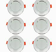 abordables -6 pièces 5 W 360 lm 10 Perles LED Installation Facile Encastré LED Encastrées Blanc Chaud Blanc Froid 220-240 V Maison / Bureau Salon / Salle à Manger