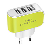 cheap -Portable Charger / USB Wall Charger EU Plug Normal 3 USB Ports 3.1 A DC 5V for Mobile Phone Tablet