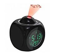 abordables -LED Réveil Blanche Plastique Piles AAA alimentées Éclairage Réveil Horloge