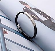 abordables -Personnalisé Silicone / Acier inoxydable / fer Bracelet / Bracelet Coloré Amis Cadeau / Usage quotidien -