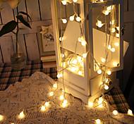 economico -1.5m Fili luminosi 10 LED 1pc Bianco caldo Decorazione di nozze di Natale Batterie AA alimentate