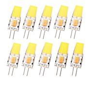 abordables -10 pièces 3 W LED à Double Broches 180 lm G4 T 1 Perles LED COB Imperméable Intensité Réglable Blanc Chaud Blanc Froid 12-24 V