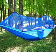 abordables -Camping hamac avec moustiquaire Extérieur Portable Poids Léger Respirable Nylon Parachute avec mousquetons et sangles pour 2 personne Chasse Pêche Plage Vert foncé Vert Véronèse Couleur camouflage