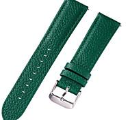 economico -vera pelle / Pelle / Pelo di vitello Cinturino per orologio  Blu / Marrone / Verde 17 cm / 6,69 pollici / 18 cm / 7 pollici / 19 cm / 7,48 pollici 1 cm / 0,39 pollici / 1,2 cm / 0,47 pollici / 1,3 cm