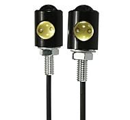 abordables -la paire 3w 6000k 12v a mené la lampe de boulon de vis de plaque d'immatriculation de permis de voiture de moto