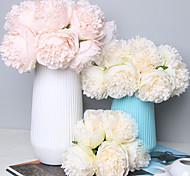 economico -fiore artificiale bouquet di fiori da sposa in plastica bouquet di fiori da tavolo 5 rami 32 cm