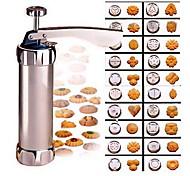 abordables -Presse à Biscuits Pistolet à Pâtisserie (20 Pcs) - Acier Inoxydable Kit de Decoration à Patisserie glaçage Presse Machine de Pompe