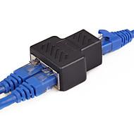 economico -Cavo di rete ethernet da 1 a 2 vie adattatore da rj45 a rj45 femmina - adattatore per connettore splitter femmina