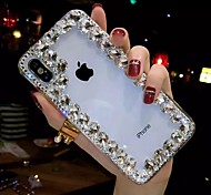 abordables -téléphone Coque Pour Apple Coque Arriere iPhone XR iPhone XS iPhone XS Max iPhone X iPhone 8 Plus iPhone 8 iPhone 7 Plus iPhone 7 iPhone 6s Plus iPhone 6s Strass Transparente A Faire Soi-Même Strass