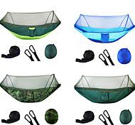 abordables -Hamac de camping avec moustiquaire escamotable Hamac double Extérieur Nylon Poids Léger Séchage rapide Anti-Moustique Respirabilité Vestimentaire pour Pêche Camping 2 personne jacinthe + Gris Noir