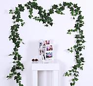abordables -Plantes artificielles Plastique Traditionnel / Classique Vin Guirlande et Fleur Murale Vin 1