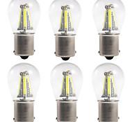 abordables -6pcs 1156 / 1157 Automatique Ampoules électriques 4 W COB 300 lm 4 LED Clignotants / Feux de freinage / Feux de recul Pour Universel Toutes les Années