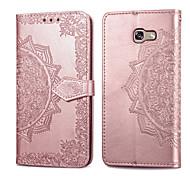 abordables -téléphone Coque Pour Samsung Galaxy Coque Intégrale Étui en cuir Etui folio A5 Porte Carte Clapet Couleur Pleine Flexible faux cuir