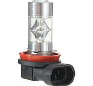 abordables -1pcs H11 / H8 Automatique Ampoules électriques 60 W SMD 2835 800 lm 12 LED Feu Antibrouillard Pour Universel / Toyota / Mercedes-Benz Tous les modèles