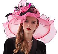 economico -Organza / Piume / A rete Kentucky Derby Hat / fascinators / Copricapo con Piume / Floreale 1 pezzo Matrimonio / Tè / All'aperto Copricapo