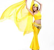 abordables -Danse du ventre Voile Femme Entraînement / Utilisation Tulle Couleur Unie Moderne Voile