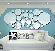 abordables -3D Stickers muraux Miroirs Muraux Autocollants Autocollants muraux décoratifs, PVC Décoration d'intérieur Calque Mural Mur Décoration 1 set / Repositionable